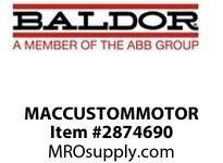 Baldor MACCUSTOMMOTOR 60HP,1200,405TC,TEBC