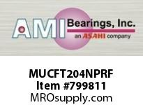 AMI MUCFT204NPRF 20MM STAINLESS SET SCREW RF NICKEL SINGLE ROW BALL BEARING