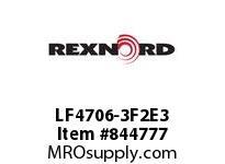 REXNORD LF4706-3F2E3 LF4706-3 F2 T3P LF4706 3 INCH WIDE MATTOP CHAIN WIT