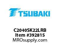 US Tsubaki C2040SK22LRB C2040 RIV 2L/SK-2