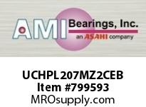AMI UCHPL207MZ2CEB 35MM ZINC WIDE SET SCREW BLACK HANG COVERS SINGLE ROW BALL BEARING