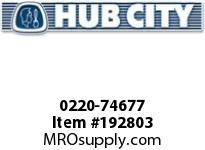 HUBCITY 0220-74677 125M 1/1 A SP 60MM BEVEL GEAR DRIVE