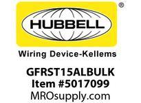 HBL_WDK GFRST15ALBULK 15A COM SELF TEST GFR ALMOND BULK