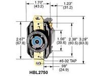 HBL-WDK HBL2750 LKG RCPT 30A 3PH 120/208V L18-30R BK