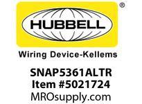 HBL_WDK SNAP5361ALTR SNAP SGL RCPT 5-20R 20A 125V TR AL