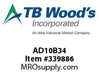 TBWOODS AD10B34 CLAMP HUB AD10-B.750DIA 3/16KW