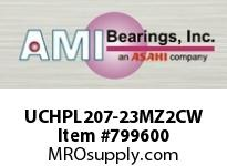 AMI UCHPL207-23MZ2CW 1-7/16 ZINC WIDE SET SCREW WHITE HA COVERS SINGLE ROW BALL BEARING