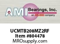 AMI UCMTB208MZ2RF 40MM ZINC SET SCREW RF STAINLESS TA BLK SINGLE ROW BALL BEARING
