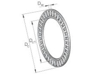 INA AXK100135 Thrust needle cage assembly