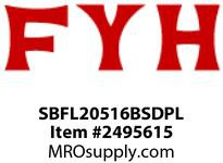 FYH SBFL20516BSDPL 1ftND SS BLA PL. HSG RE-LUBE W/BACK COVER