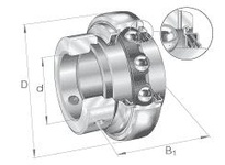 INA GE50KPPB3 Radial insert ball bearing