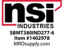 NSI SBMT380IND277-6 SHOEBOX MED TYPE 3 REFLECTOR 80W INDUCTION 277V 6^ ARM