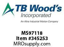 TBWOODS MS97118 MS-97X1 1/8 VAR SHEAVE