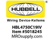 HBL_WDK HBL4750C19IV RACEWAY 19^ COVER HBL4750 SER IV