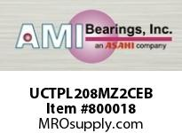 AMI UCTPL208MZ2CEB 40MM ZINC WIDE SET SCREW BLACK TAKE COVERS SINGLE ROW BALL BEARING