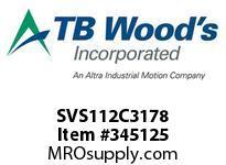 TBWOODS SVS112C3178 SVS-112-C3X1 7/8 ADJ SHEAVE