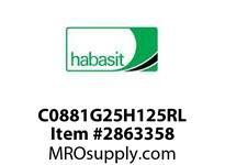 "Habasit C0881G25H125RL 881-25T X 1-1/4"" Split Idler Sprocket"
