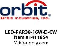 Orbit LED-PAR38-16W-D-CW LED PAR38 16W 120V DIMMABLE 5000K COOL WHITE