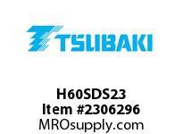 US Tsubaki H60SDS23 HT Cross Reference H60SDS23 QD SPROCKET HT