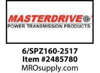 MasterDrive 6/SPZ160-2517 6 GROOVE SPZ SHEAVE