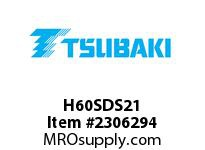 US Tsubaki H60SDS21 HT Cross Reference H60SDS21 QD SPROCKET HT