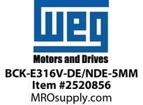 WEG BCK-E316V-DE/NDE-5MM DE BEARING CAP 6316 V-RING PARTS