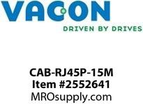 Vacon CAB-RJ45P-15M 15m RJ45 cable for door mounting kit Option