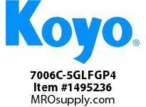 Koyo Bearing 7006C-5GLFGP4 PRECISION ANGULAR CONTACT BEARING