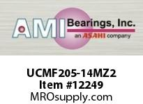 AMI UCMF205-14MZ2 7/8 ZINC WIDE SET SCREW STAINLESS 4 W/ZINC COATED BEARING