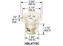 HBL-WDK HBL4715C LKG FLG-RCPT 15A 125V L5-15R WH