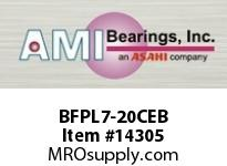 AMI BFPL7-20CEB 1-1/4 NARROW SET SCREW BLACK 4-BOLT PLASTIC HSG W/C.C & BS