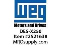 WEG DES-X250 DE ENDSHIELD XP FR 250T Integrals