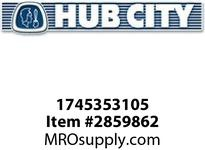 HUB CITY 1745353105 SEAL DOUBLE LIP N 211/300 Spherical Bearing Seal