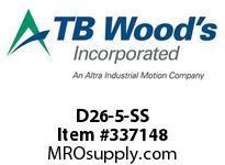 TBWOODS D26-5-SS FLEX DISC SS