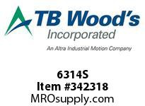 TBWOODS 6314S 6X3 1/4-SD STR PULLEY