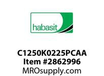 "Habasit C1250K0225PCAA 2-1/2"" Straight Knuckle Gray Polycarbonate"