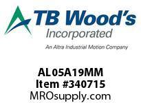 TBWOODS AL05A19MM AL05-AX19MM FF COUP HUB