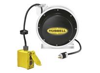 HBL_WDK HBL45123R220W CORD REEL W/(2) DUPLEX 45 12/3 WH