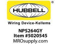 HBL_WDK NPS264GY WALLPLATE 4G DEC SNAP-ON GRAY