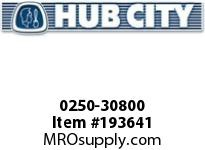 HUBCITY 0250-30800 HB2065ID 155.64 0.25HP HELICAL-BEVEL DRIVE