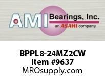 AMI BPPL8-24MZ2CW 1-1/2 ZINC NARROW SET SCREW WHITE P