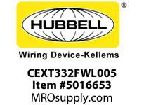 HBL_WDK CEXT332FWL005 EXT CABLE 3/3/2 F/O 6IN 12/12/12 AWG