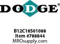 DODGE B12C18S01088 BB1283 180-CC 10.88 2-7/8 S SHFT