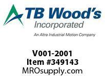 TBWOODS V001-2001 INPUT SHAFT TYPE 10 HSV/11