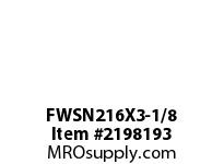 PTI FWSN216X3-1/8 PILOTED 4-BOLT FLANGE BEARING-3-1/8 FWSN 200 GOLD SERIES - NORMAL DUTY