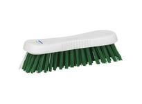 REMCO 38932 Vikan Resin Brush Resin Set Hand Scrub- Stiff- Green