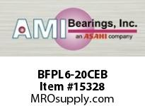 AMI BFPL6-20CEB 1-1/4 NARROW SET SCREW BLACK 4-BOLT PLASTIC HSG W/C.C & BS
