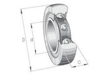 INA LR606NPPU Yoke type track roller