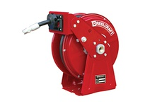 ReelCraft DP5635 OHP SERIES DP5000-COMPACT DUAL PEDESTAL 3/8 X 35ft 4000psi GREASE WITH HOSE