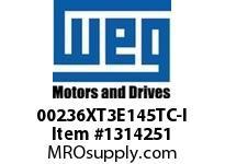 WEG 00236XT3E145TC-I 2HP 3600 60 208-230/460 XP - Nema Pr